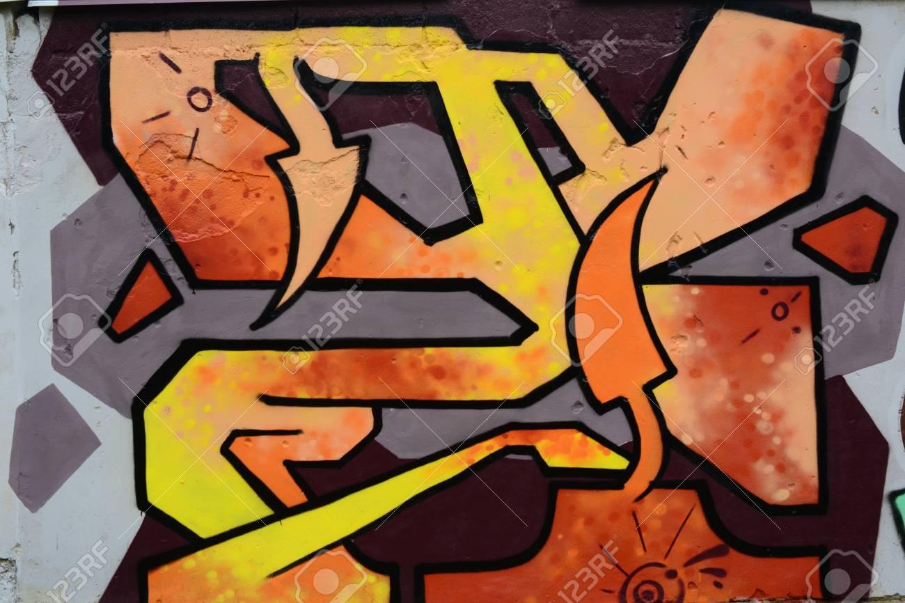 Graffiti on a wall. - 88297168