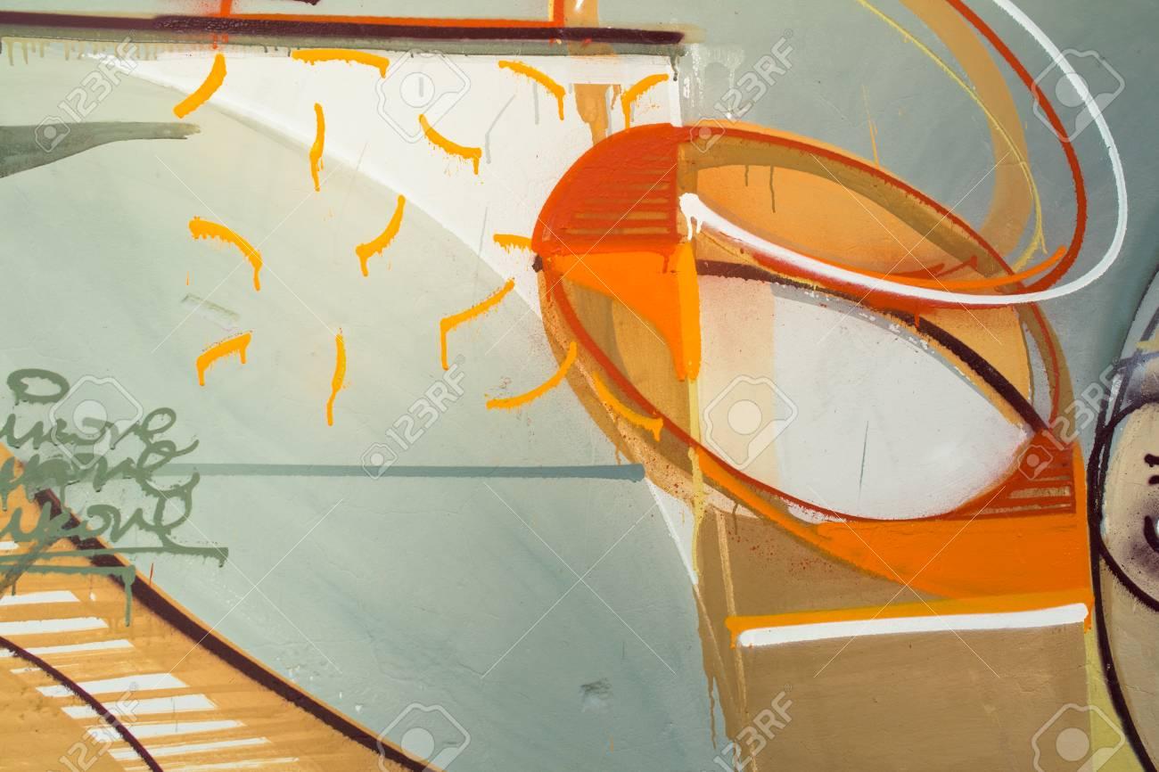 Graffiti on a wall. - 88297749