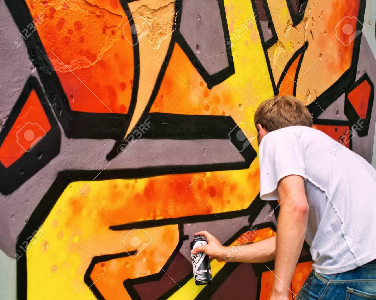 Graffiti on a wall. - 88297757