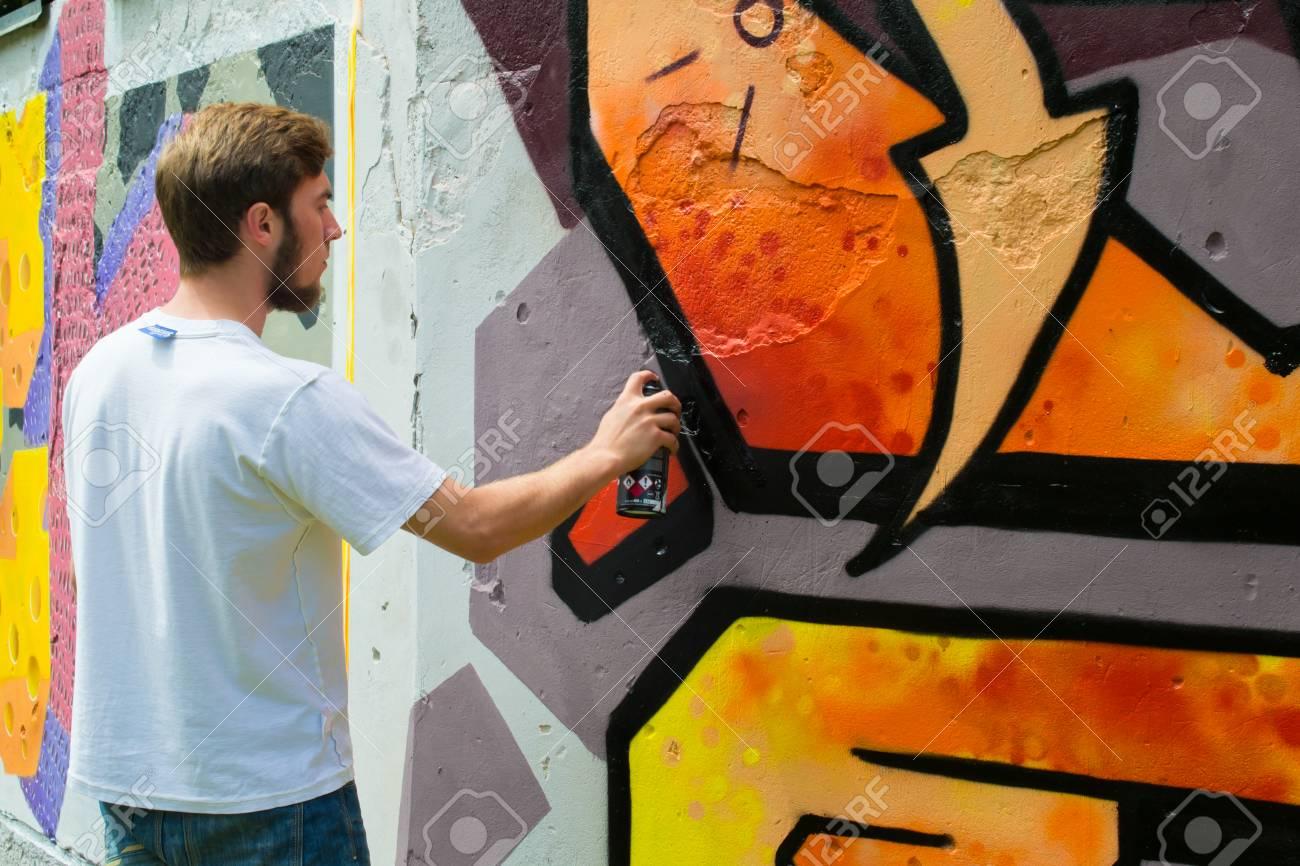 Graffiti on a wall. - 88297759