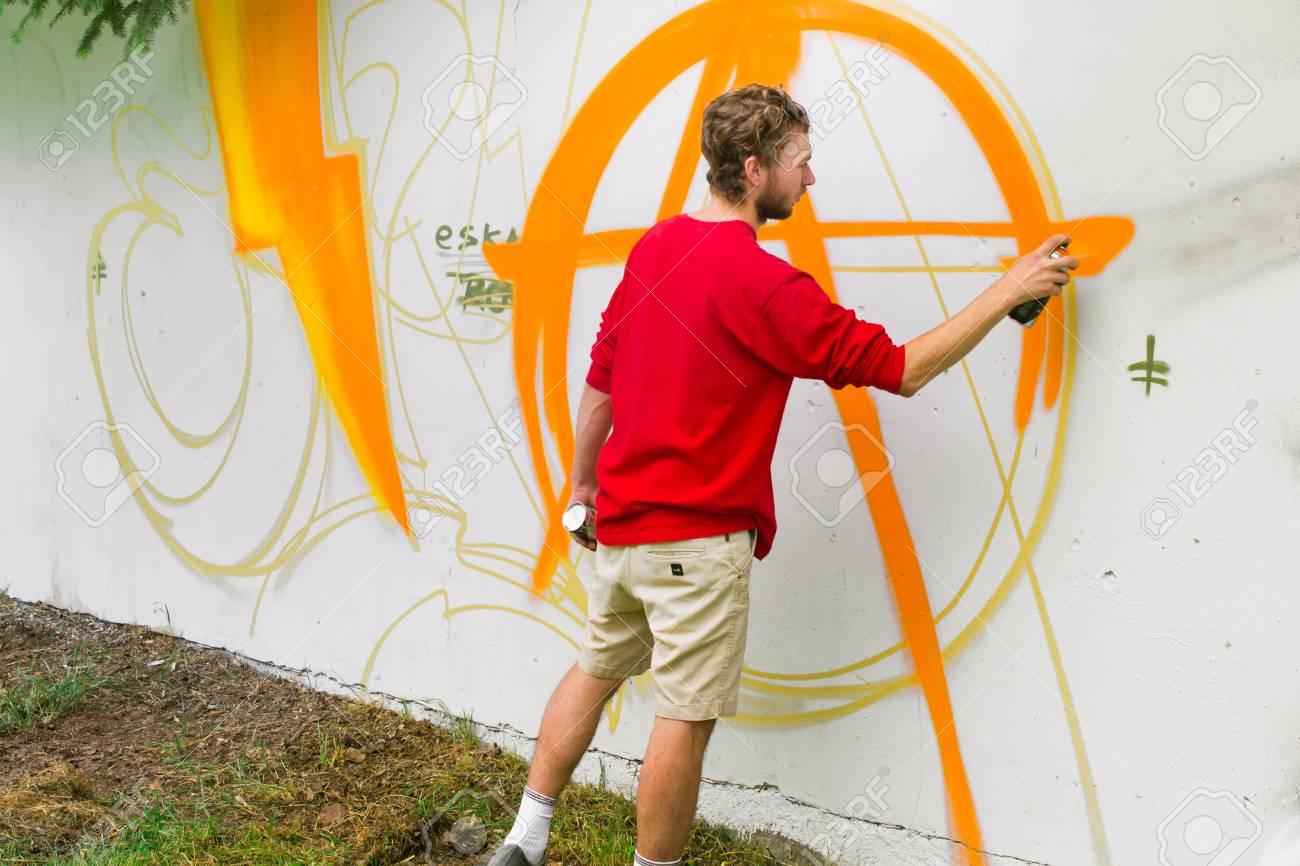 Graffiti on a wall. - 88297765