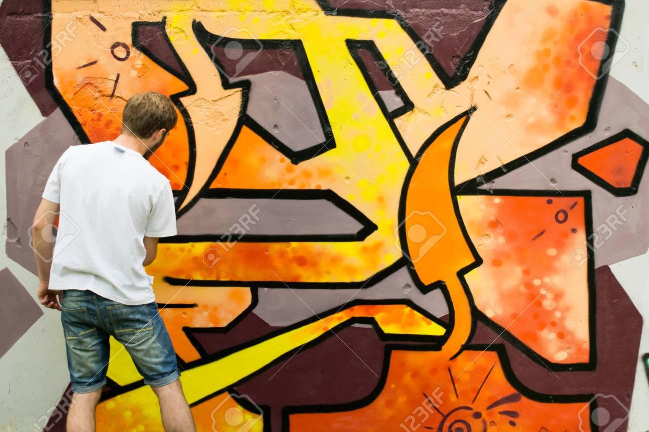 Graffiti on a wall. - 88297760
