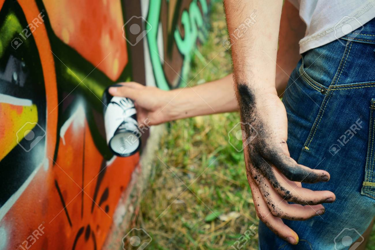Graffiti on a wall. - 88298079