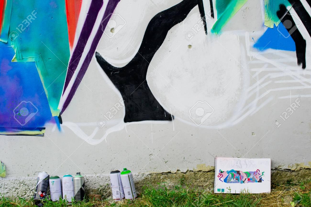 Graffiti on a wall. - 88298080