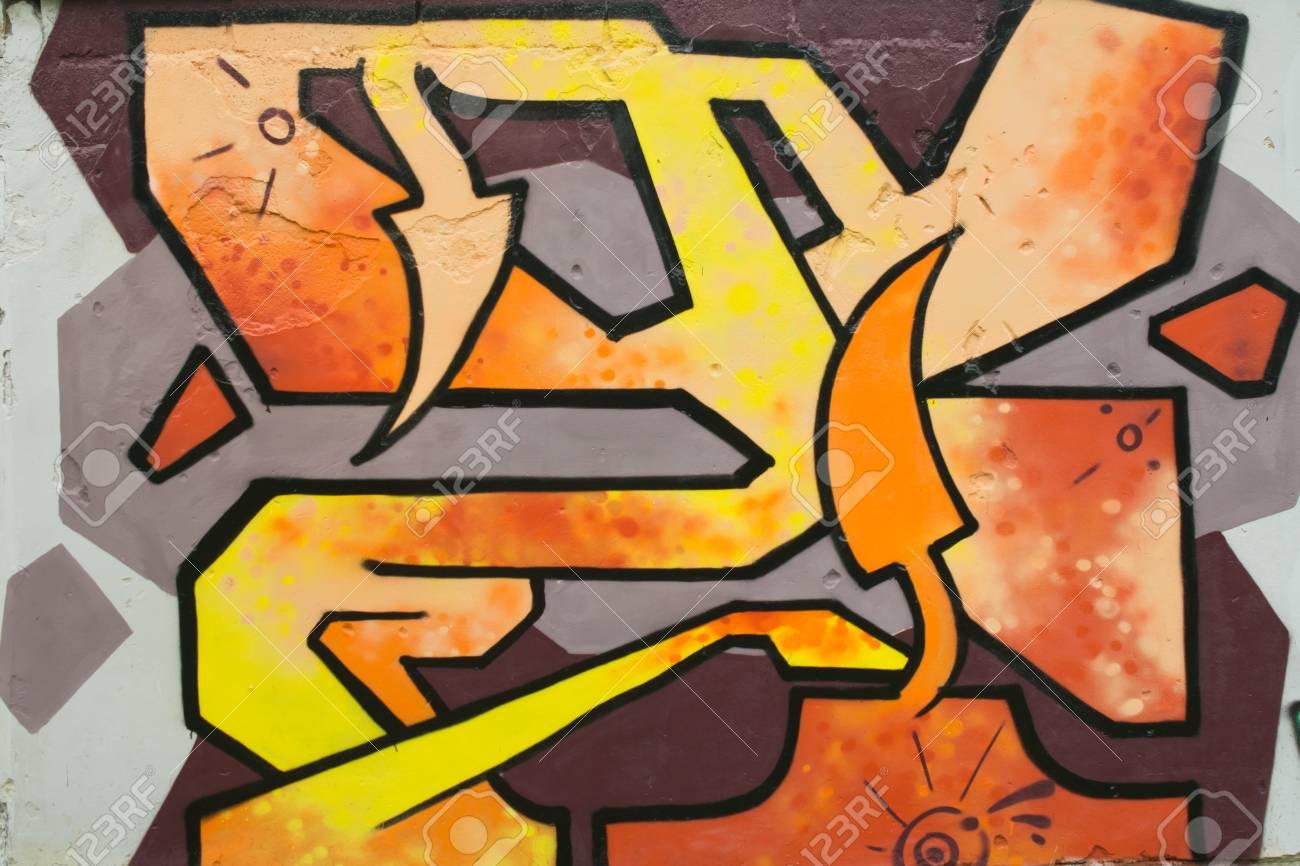 Graffiti on a fence. - 88298099