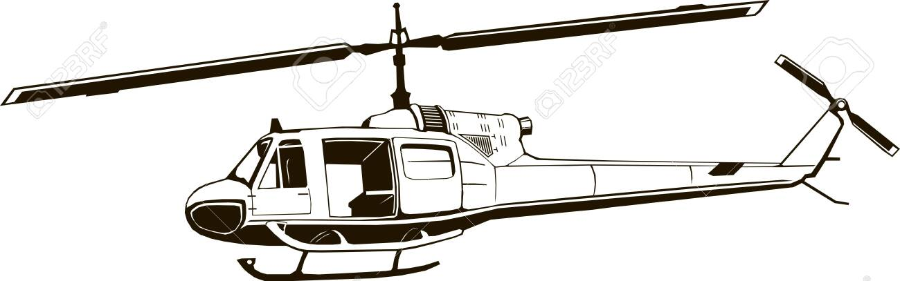 Vector Graphic Drawing Of Helicopter Monogram Period Of The Royalty Free Cliparts Vectors And Stock Illustration Image 133188053