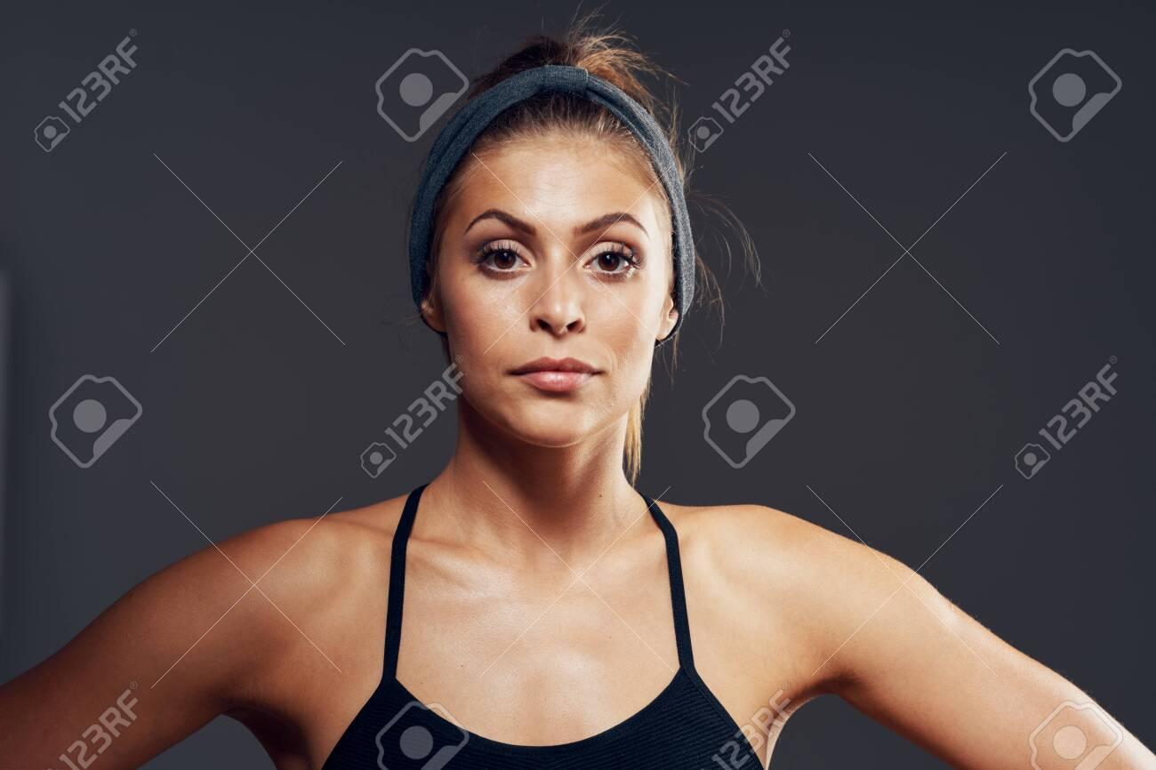 Beautiful woman portrait close-up model sport healthy - 151445469
