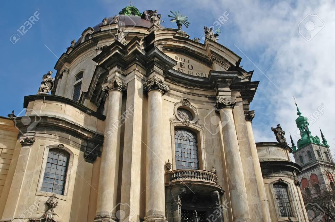 Dominican church in Lviv, Ukraine  Founded in 1745 Stock Photo - 14636396