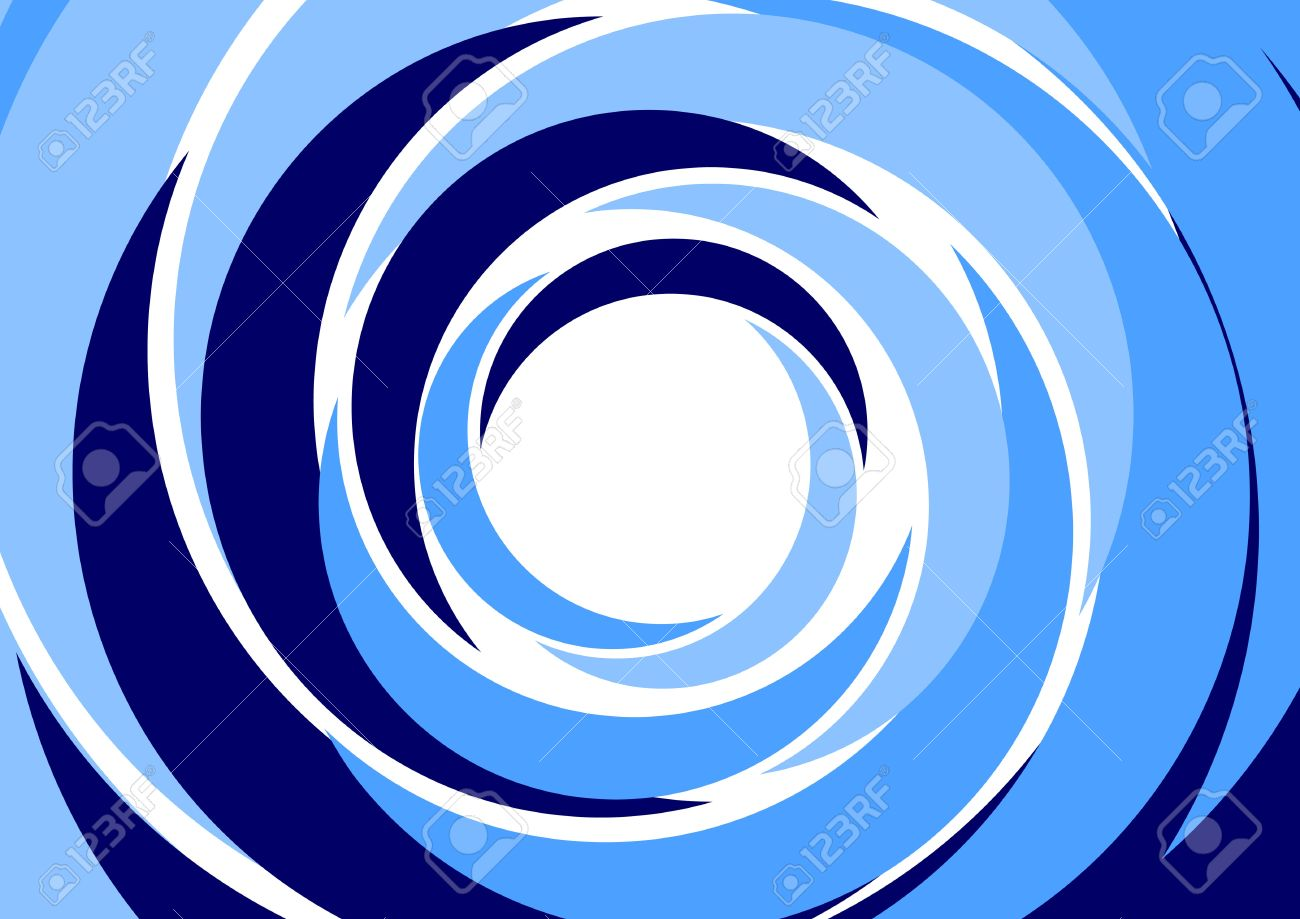 Abstract background - blue concentric circles Stock Vector - 14636184