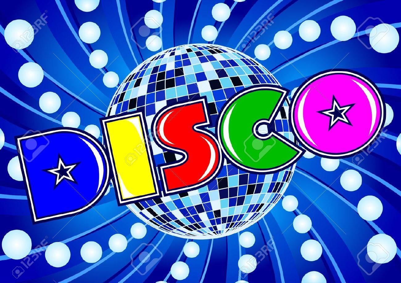 Disco - composition in a retro style 80 - 14636378