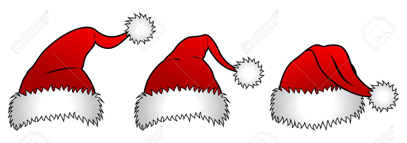 Three versions of Santa Claus hats Stock Vector - 14636743
