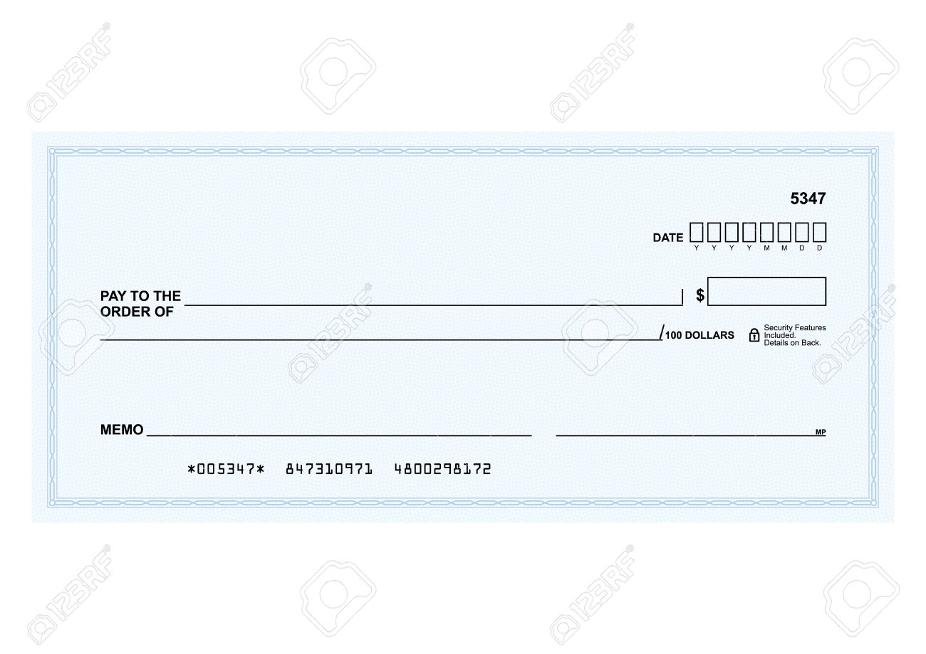 Template in vector - The blank form of a Bank check - 51111215