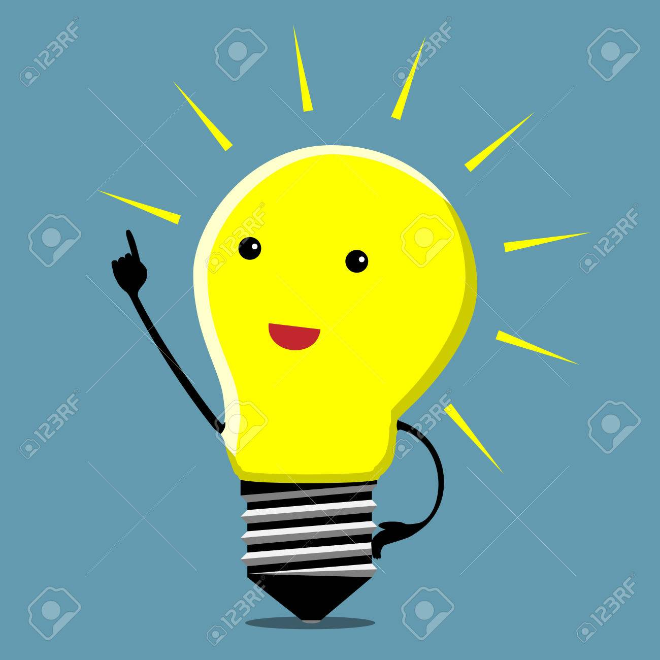Light bulb character in moment of insight - 38478898