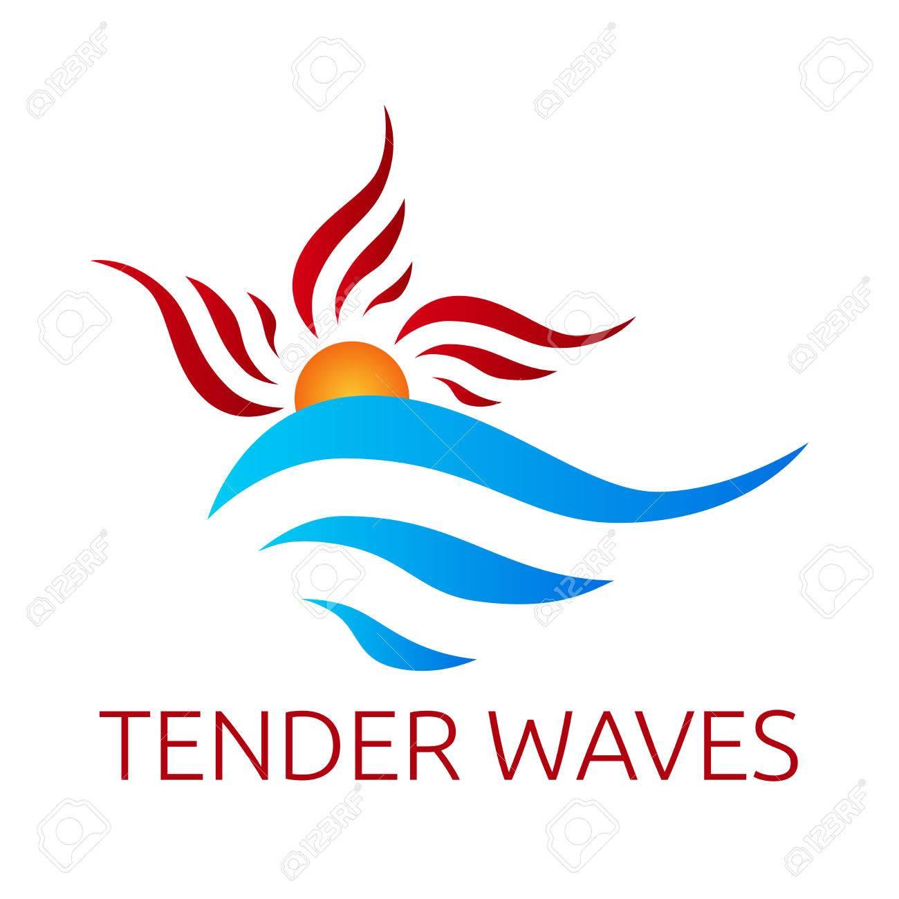 abstract sun and waves logo template eps 10 vector illustration rh 123rf com wave logo black waves login