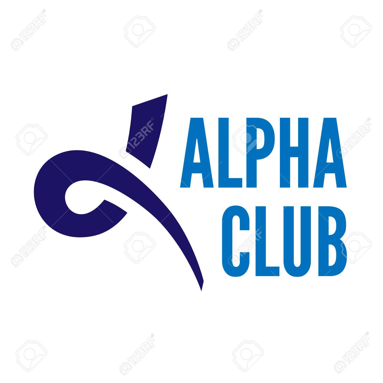Blue alpha letter Stock Vector - 44344239 4b7f6d978f12