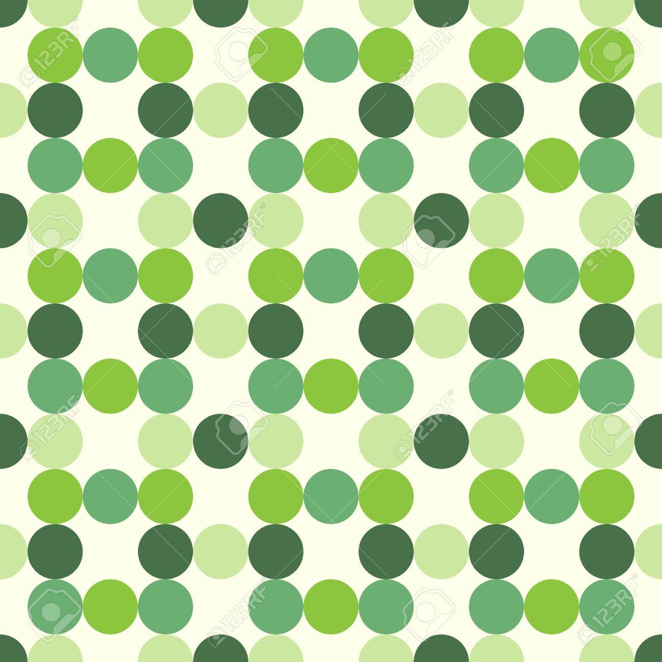 Circles of various tones, shades and tints of green, seamless pattern. EPS 8 vector illustration, no transparency - 49484855