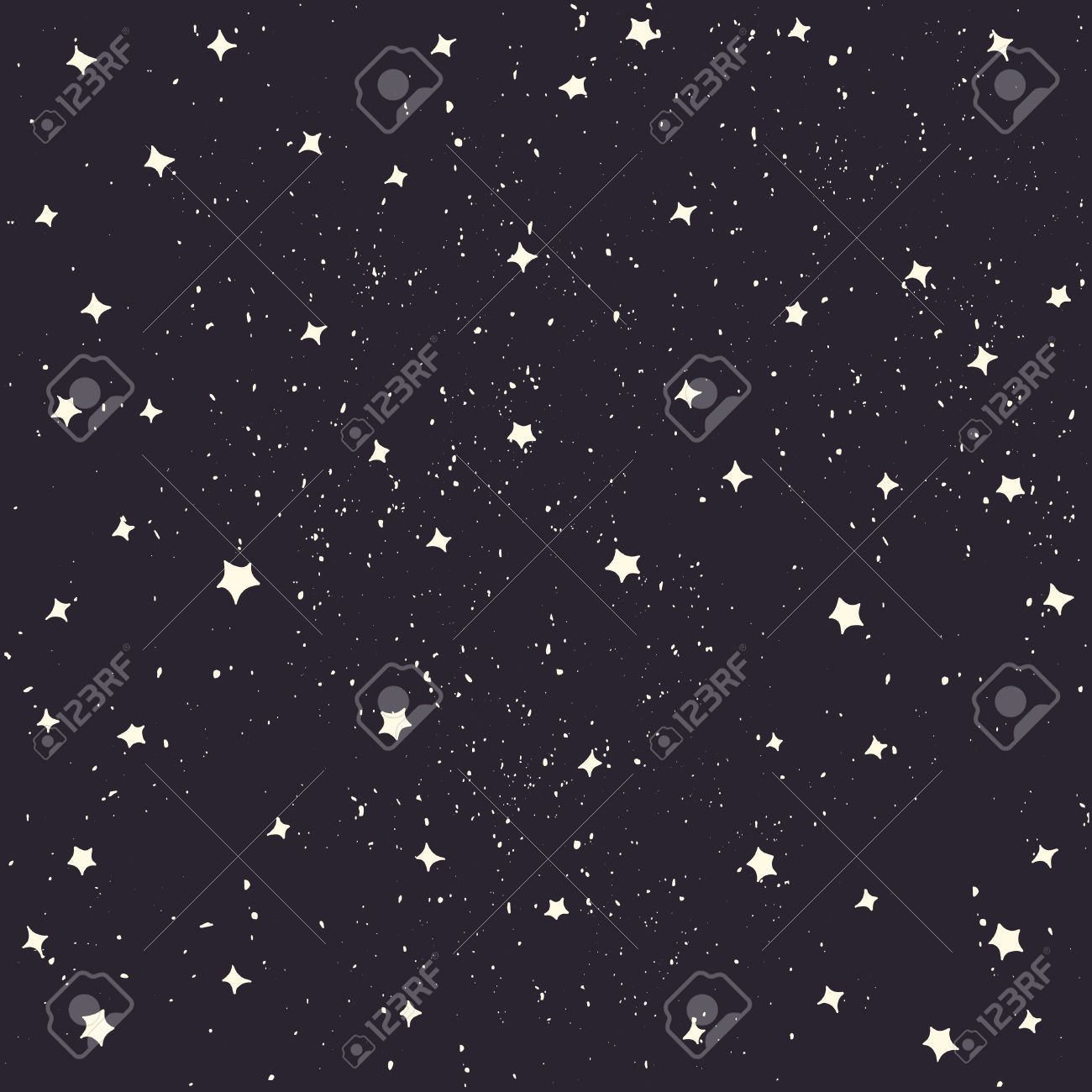 space with stars vector cartoon style space background royalty