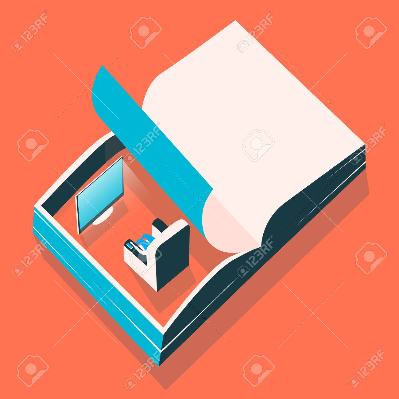 Shirt design book - Open Book Everyday Page Poster And T Shirt Design Stock Vector