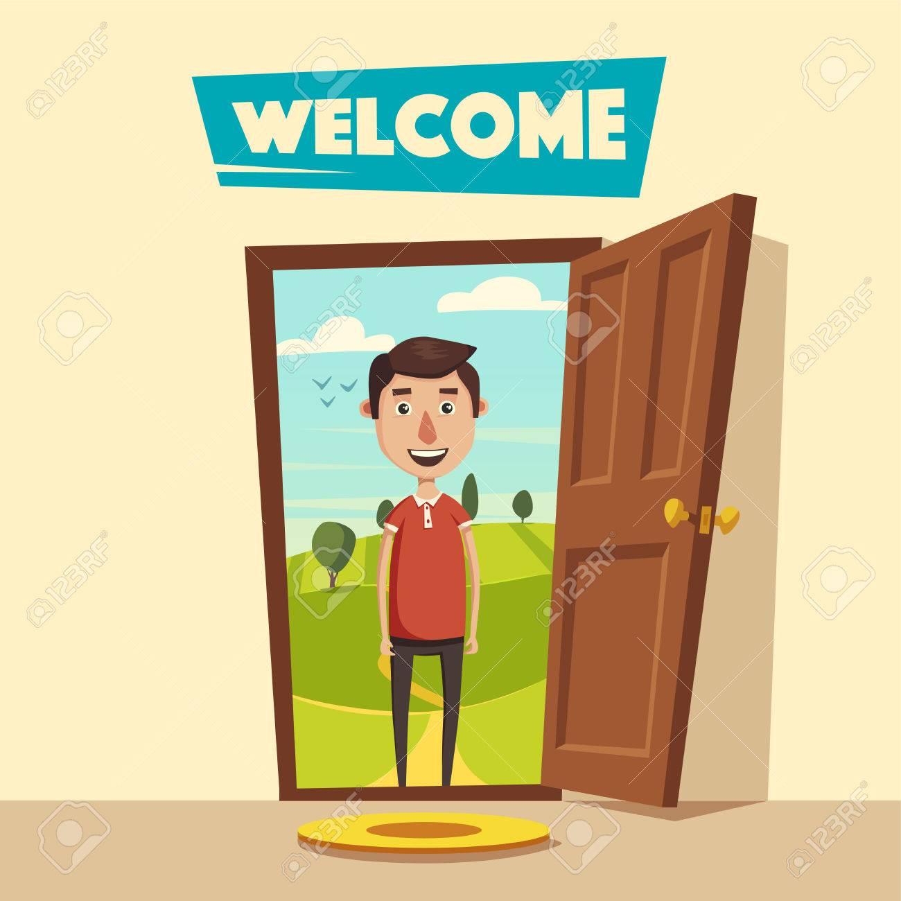 Open Door Welcome Clipart half opened door to a living room door handle door lock lounge