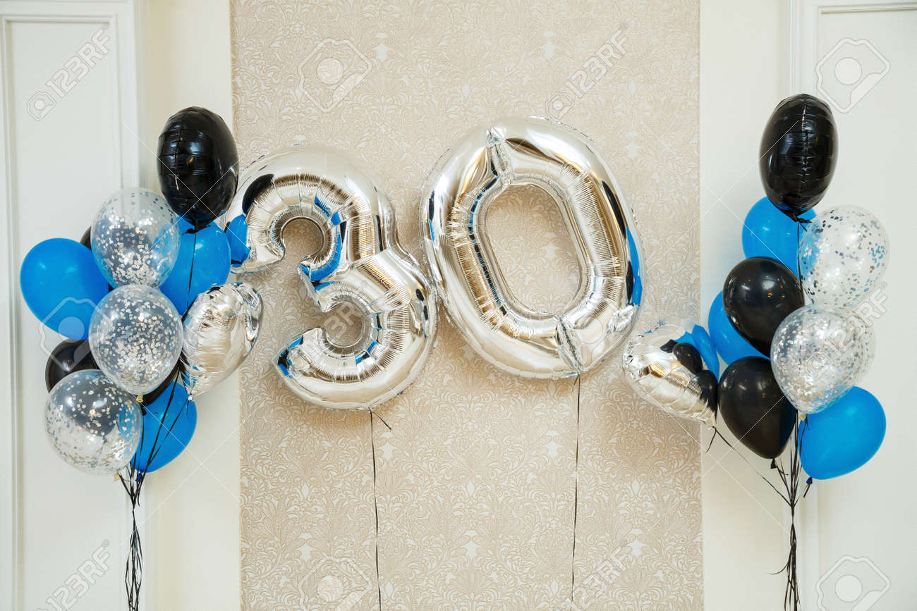 multi-colored balloons for a cheerful holiday - 155152311