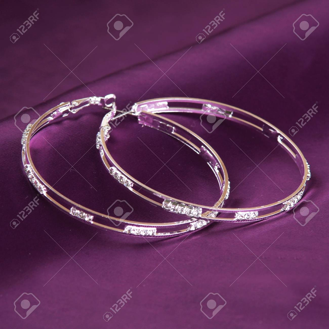 silver earrings Stock Photo - 15764523