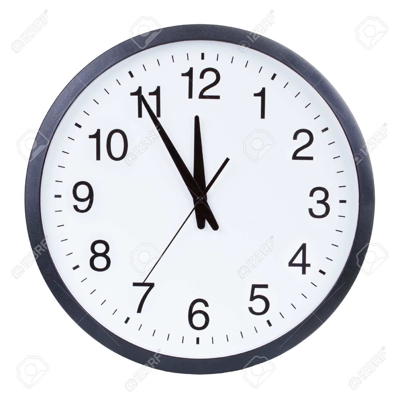 worksheet Clock Face With Hands clock face showing the hands at five minutes to midnight stock photo 29435601