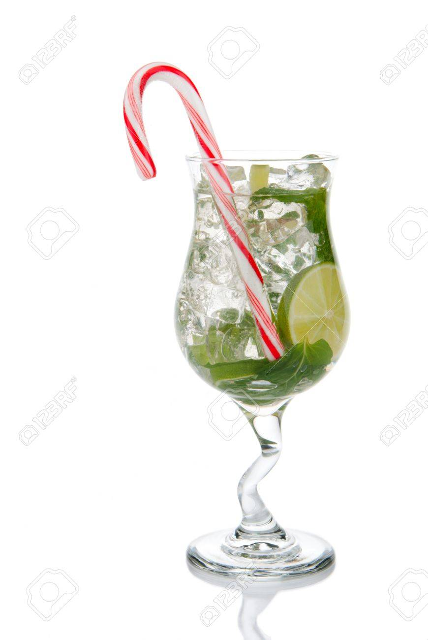 Mojito Cocktail Minzeblätter, Kalk, Einfache Sirup, Leichte Bacardi ...