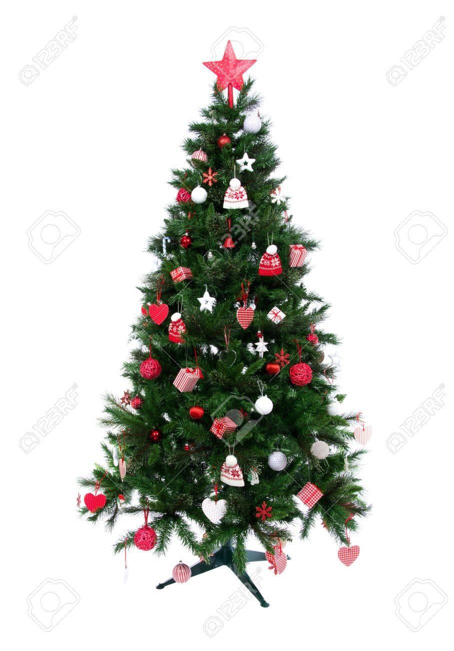 Künstlicher Geschmückter Weihnachtsbaum.Stock Photo