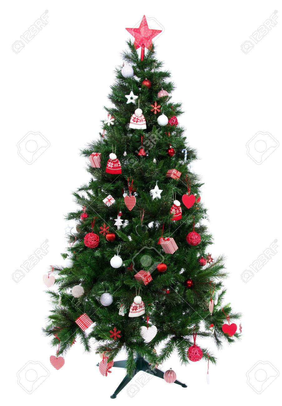 Small decorated christmas tree - Christmas Tree With Decorated Ornament Red Star Patchwork Hearts Hat And Small Presents New