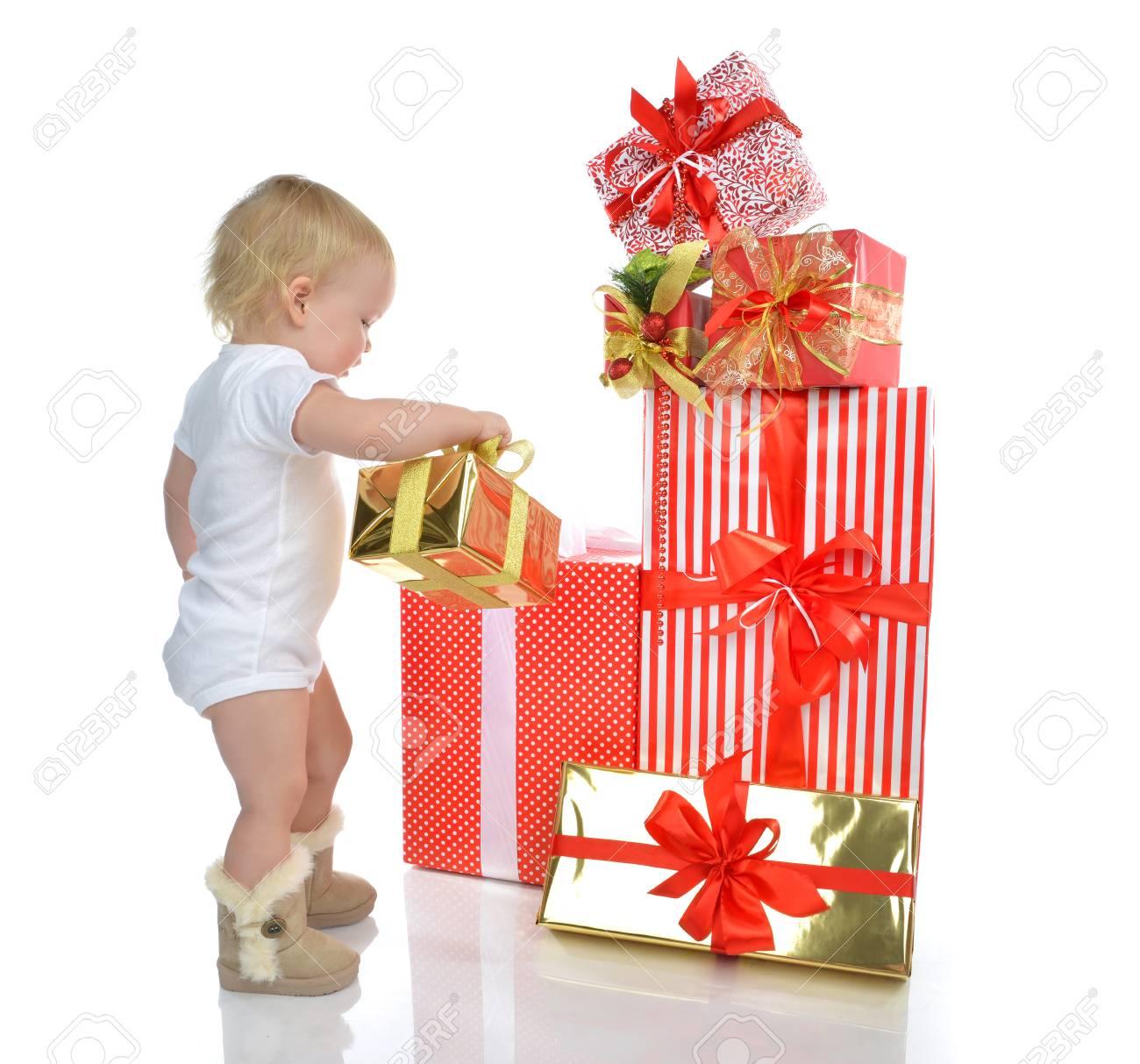 Weihnachten Konzept Des Neuen Jahres. Säugling, Baby, Kleinkind ...