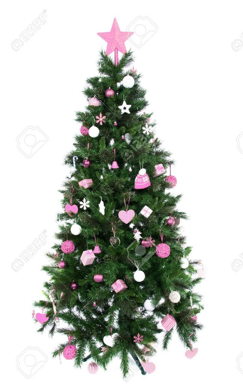 Rosa Weihnachtsbaum.Stock Photo