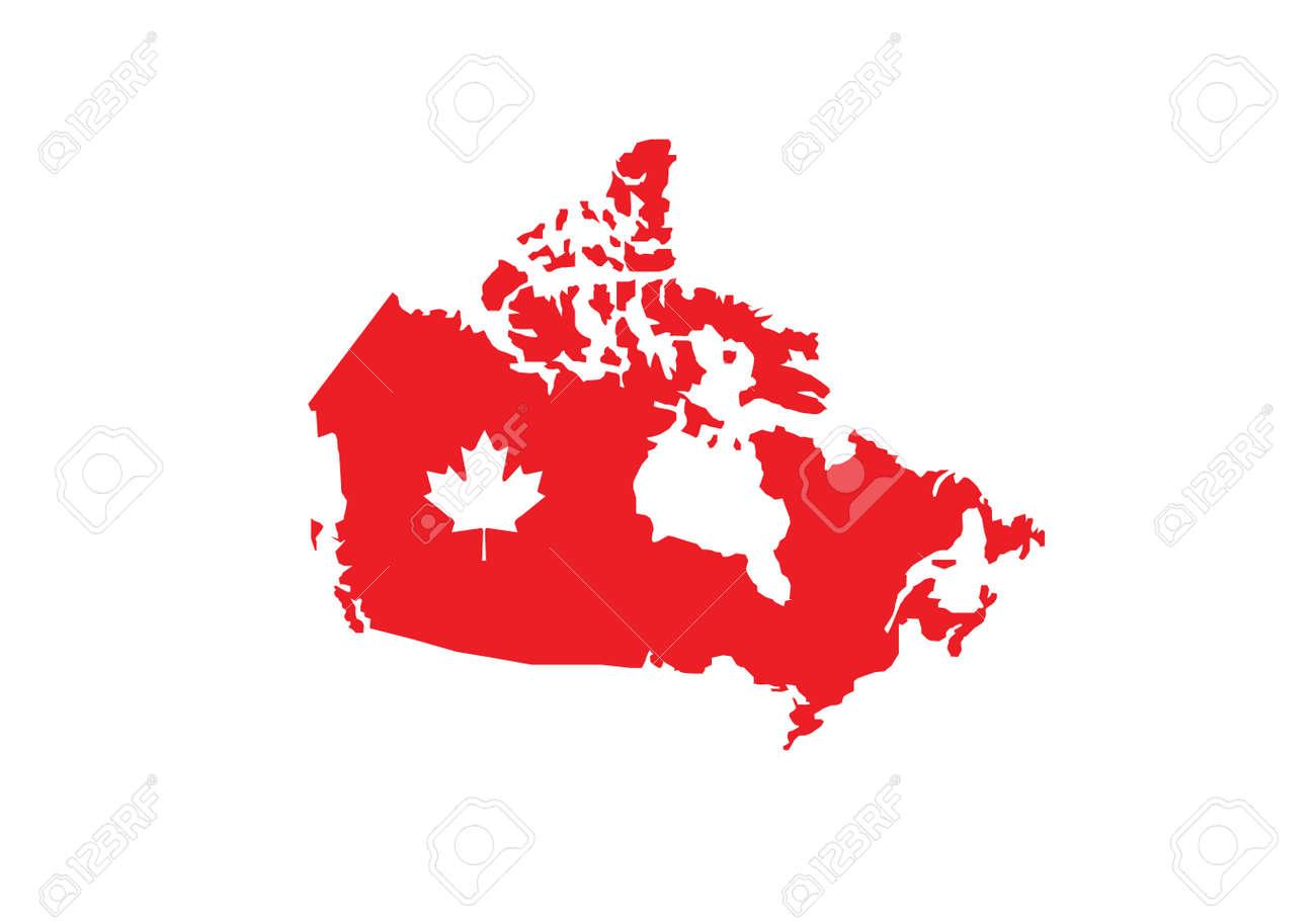 Canada map flag vector illustration - 155633320