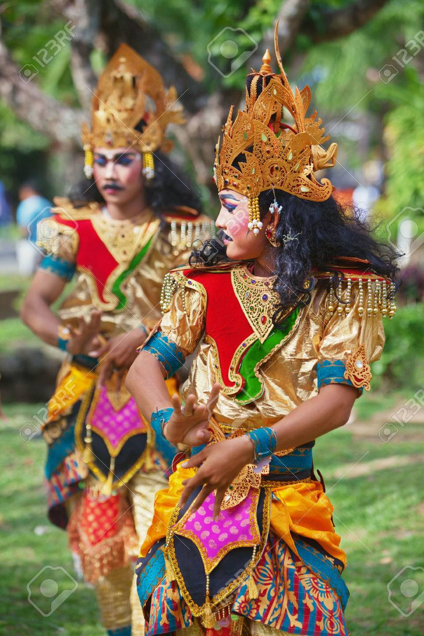 Bali Island Indonesia June 20 2015 Group Of Young Men Dressed