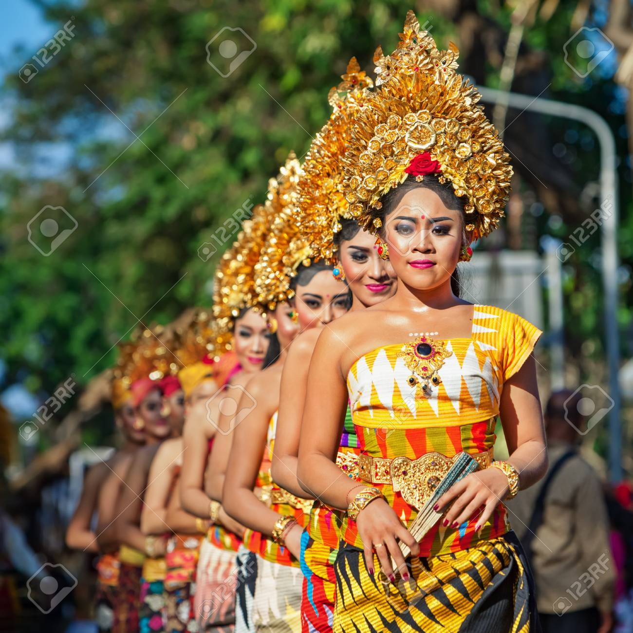 Denpasar Bali Island Indonesia June 11 2016 Group Of Balinese