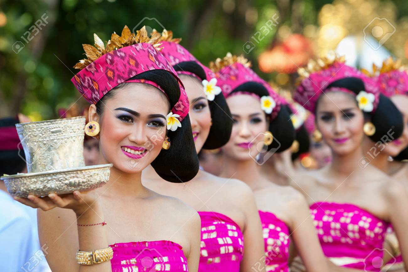 Denpasar Bali Island Indonesia June 10 2017 Group Of Beautiful