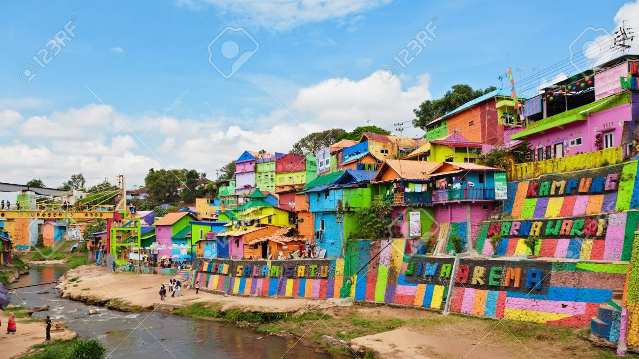 Malang Indonesia July 12 2018 View Of Jodipan Village Stock Photo Picture And Royalty Free Image Image 111645034