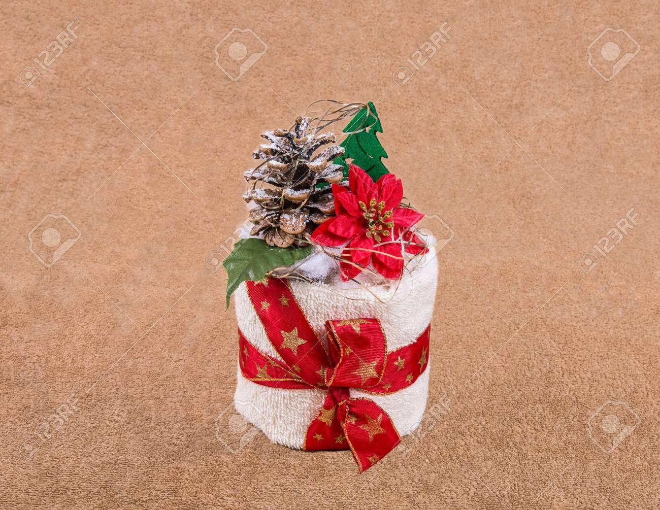 Hausgemachte Weihnachtsgeschenk Handtuch Als Schöne Dekoration ...