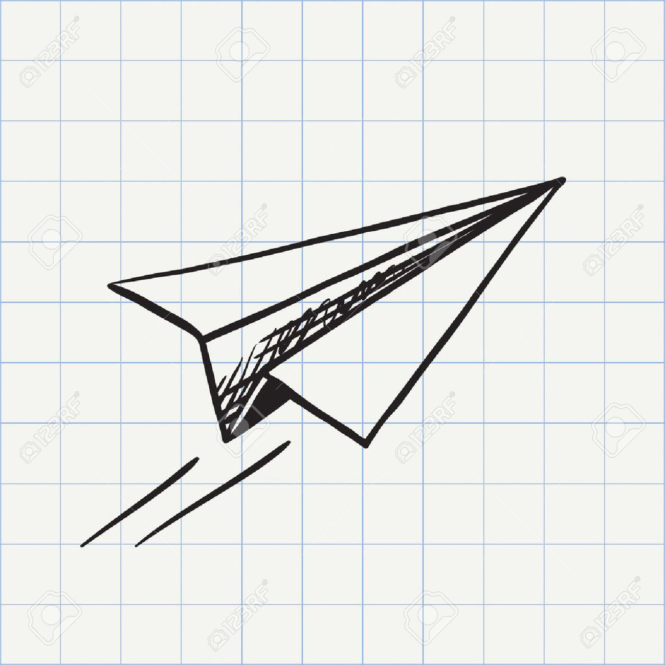 24111 paper airplane stock vector illustration and royalty free paper plane doodle icon hand drawn sketch in vector malvernweather Choice Image