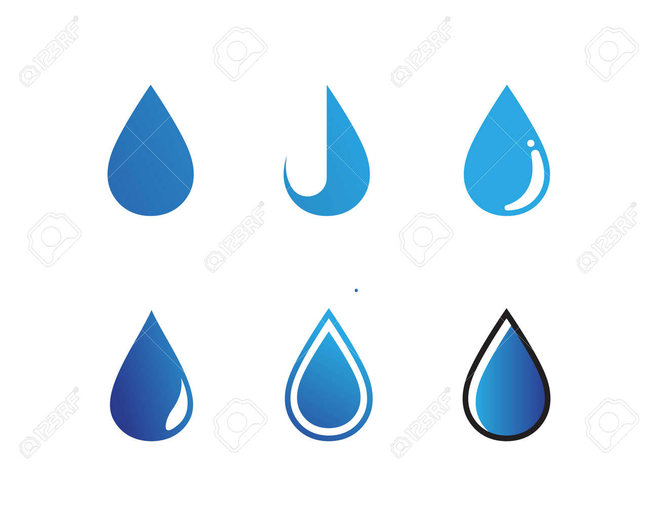water drop Logo Template vector illustration design - 165892830