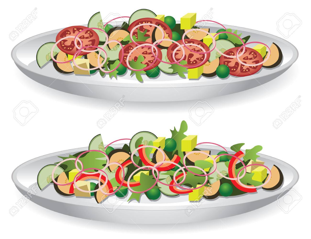 vector illustration of a delicious salad Stock Vector - 5693064