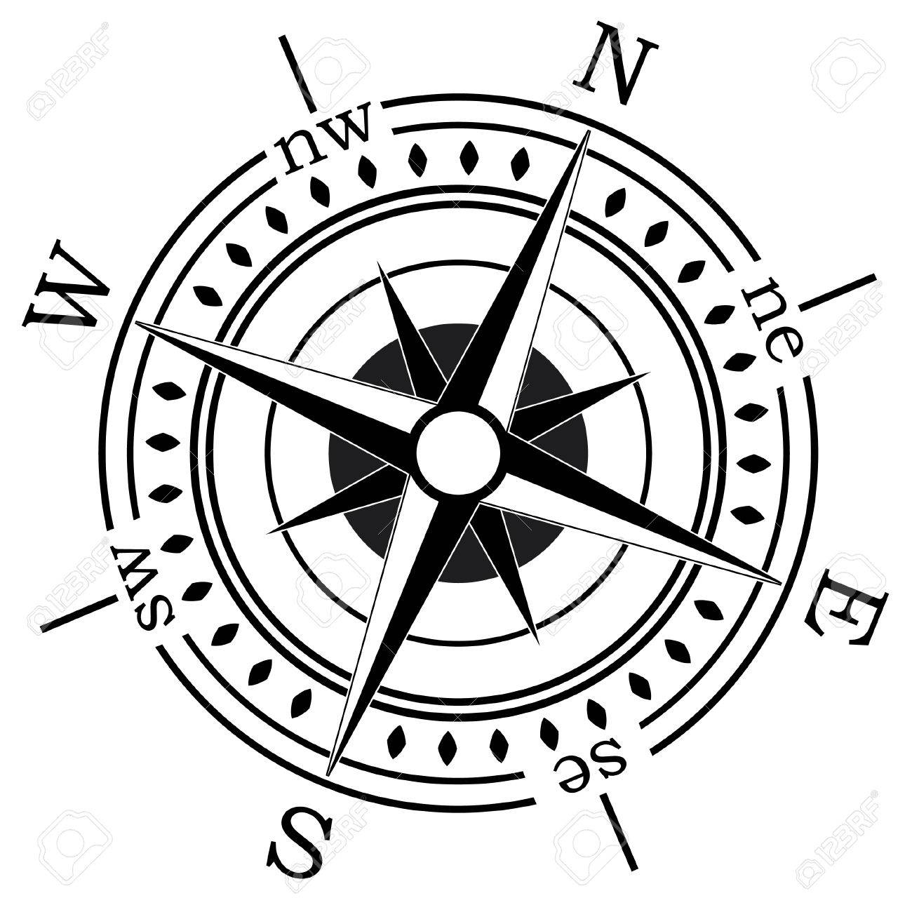 vector compass on white background Stock Vector - 6175344