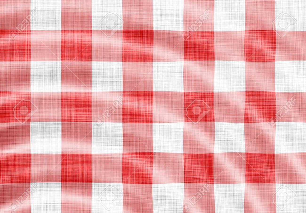 digitally made wavy red picnic cloth Stock Photo - 6418340