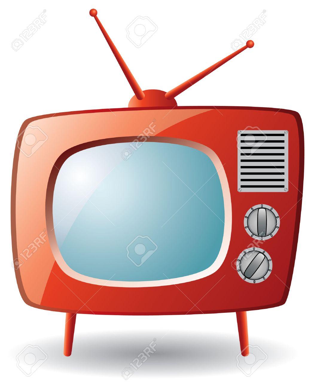 red retro tv set - 6599609