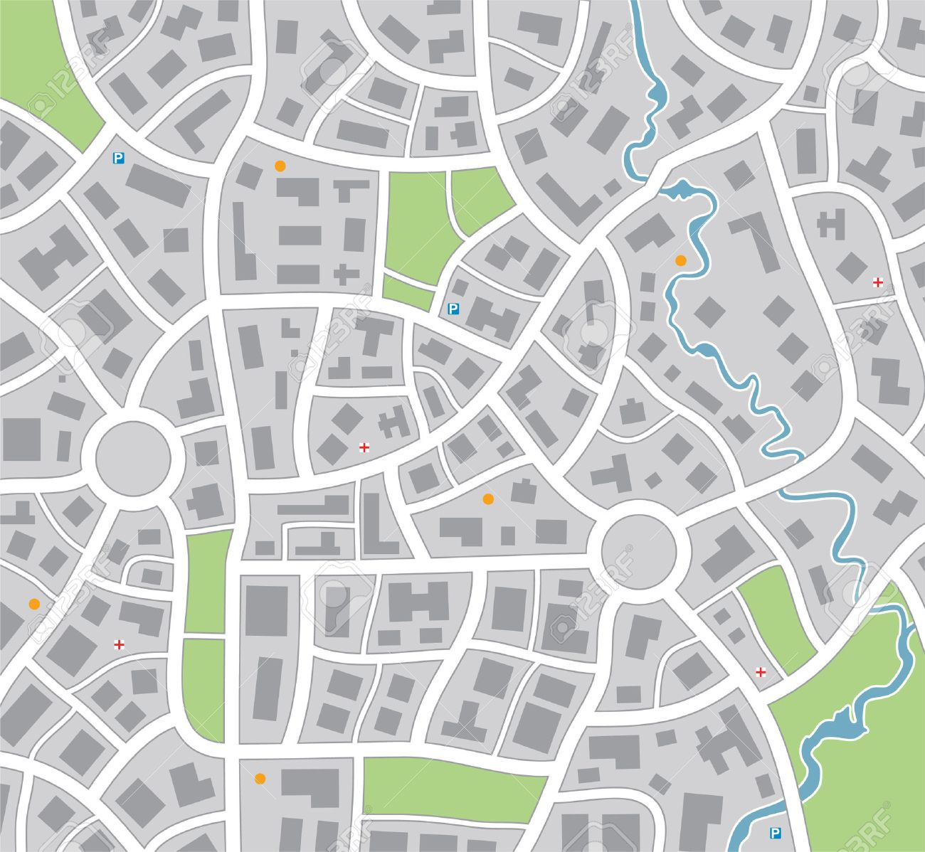 Blank Street Map Template Image Gallery Of Blank Street Map - Free us street map download
