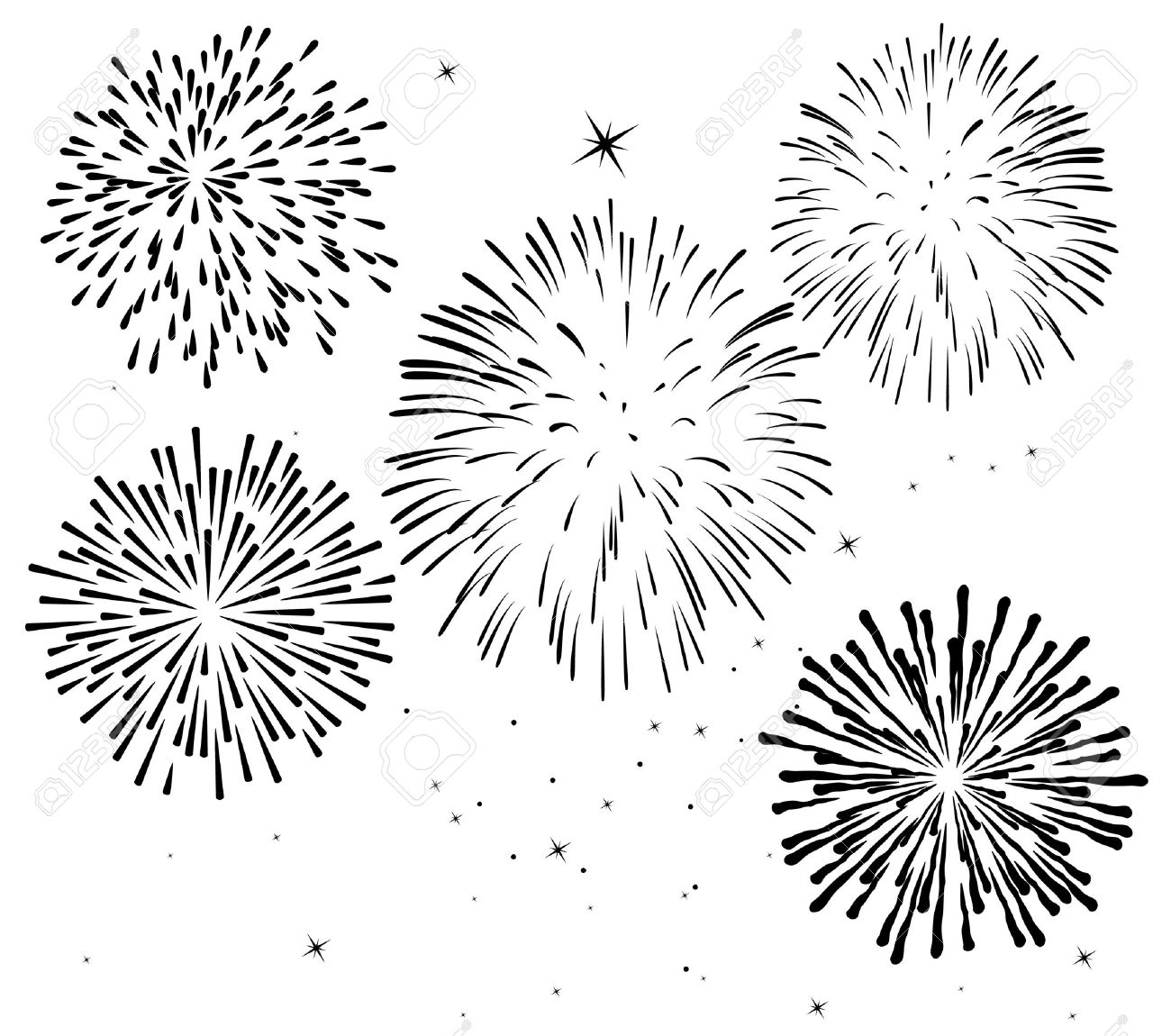 Black and white fireworks background royalty free cliparts vectors black and white fireworks background stock vector 6780885 voltagebd Image collections