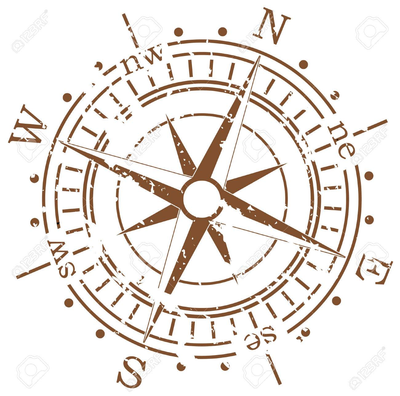 grunge vector compass royalty free cliparts vectors and stock