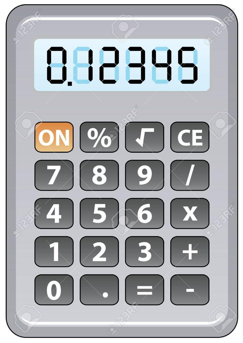gray calculator Stock Vector - 7743974