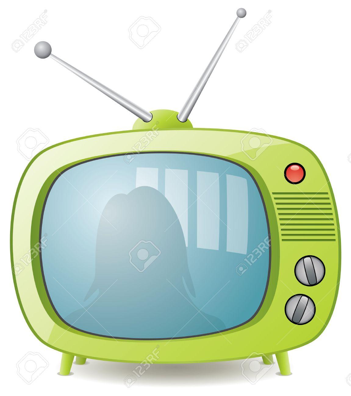 retro tv illustration. green retro tv set stock vector - 7782187 illustration o