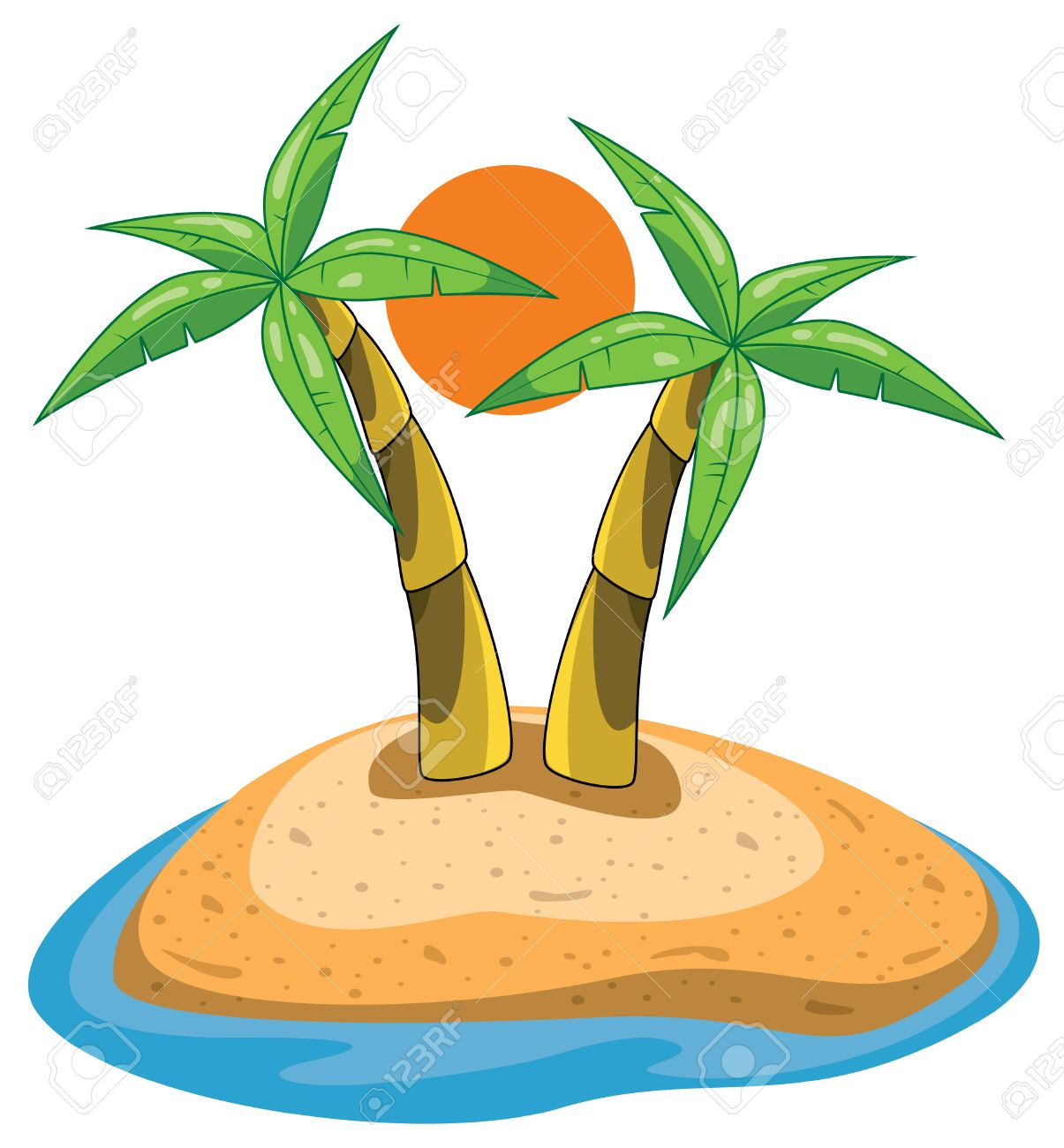palms on island clip art royalty free cliparts vectors and stock rh 123rf com iceland clip art island clipart png