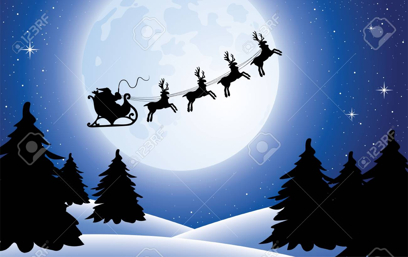 xmas holiday background with santa Stock Vector - 8437402